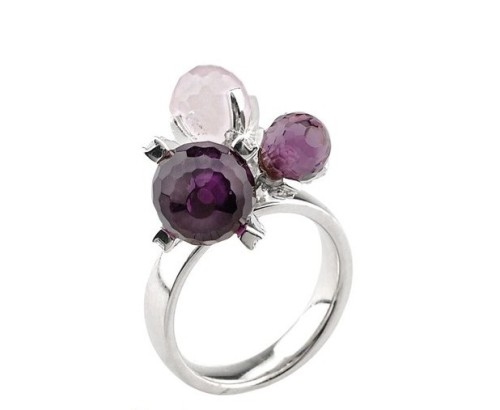 anello 2 jewels ametista