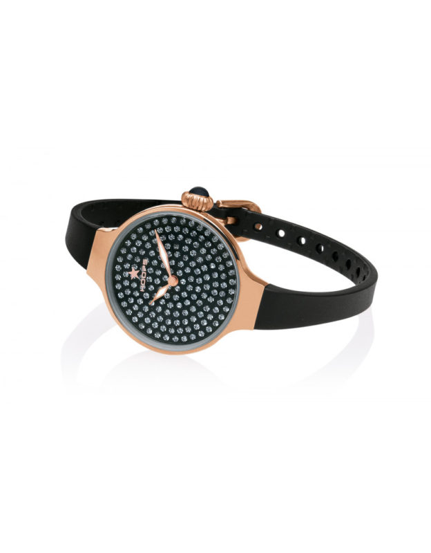 Orologio Cherie Diamonds 160 gold Black